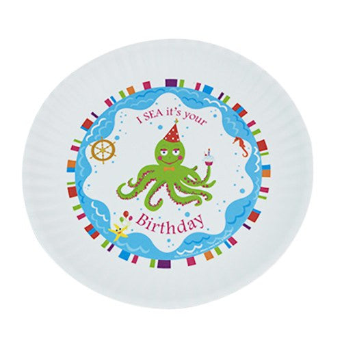 Fun Birthday Melamine Plates ~ I SEA it's your Birthday - Cece & Me - Home and Gifts