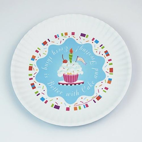 Fun Birthday Melamine Plates ~ Better with Cake and Frosting! - Cece & Me - Home and Gifts