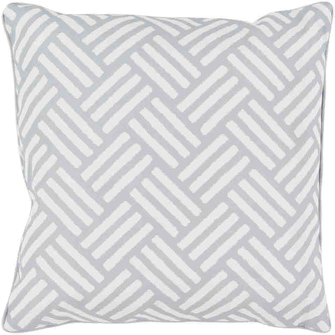Image of Basketweave Outdoor Pillow ~ Medium Gray - Cece & Me - Home and Gifts