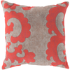 Backus Pillow ~ Bright Orange/Beige - Cece & Me - Home and Gifts