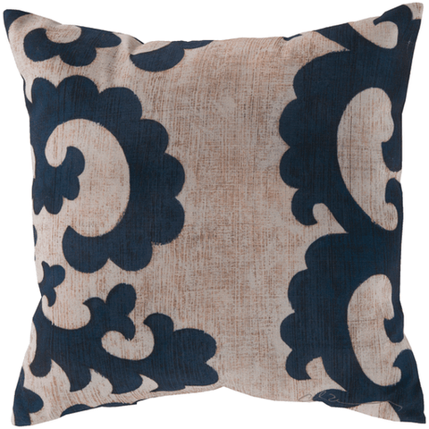 Image of Backus Pillow ~ Navy/Beige - Cece & Me - Home and Gifts
