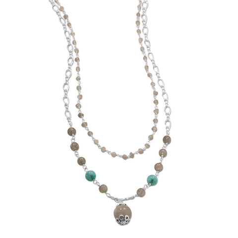 Image of Baila Luna Labradorite Drop Necklace - Cece & Me - Home and Gifts