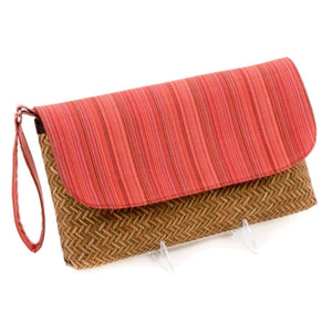 Bamboo & Red Stripe Wristlet - Cece & Me - Home and Gifts