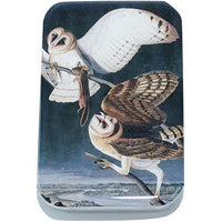 Vintage Barn Owl Tin, Card Case, Pill Box, Slider Tin, Mint Tin - Large - Cece & Me - Home and Gifts - 1