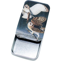 Vintage Barn Owl Tin, Card Case, Pill Box, Slider Tin, Mint Tin - Large - Cece & Me - Home and Gifts - 2