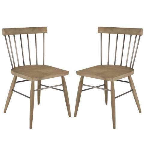 Barron Dining Chair ~ Gun Metal Gray (Set of 2) - Cece & Me - Home and Gifts