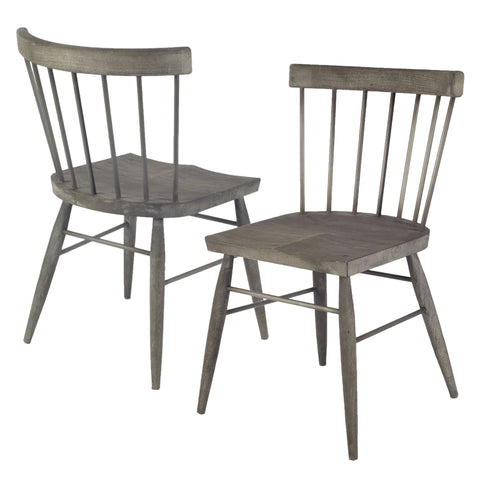 Barron Dining Chair ~ Antiqued Oak (Set of 2) - Cece & Me - Home and Gifts