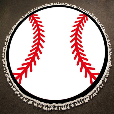 Round Beach Towel ~ Baseball - Cece & Me - Home and Gifts