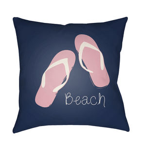 Beach Pillow ~ Bright Pink & Violet - Cece & Me - Home and Gifts