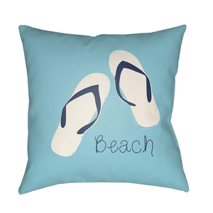 Beach Pillow ~ Violet & Sky Blue - Cece & Me - Home and Gifts