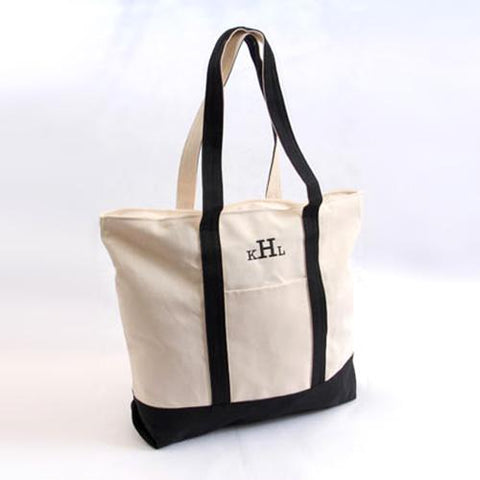 Image of Beach Tote 'Em Bag ~ Black - Cece & Me - Home and Gifts