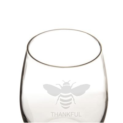 Bee Thankful Stemless Wine Glasses (Set of 4) - Cece & Me - Home and Gifts