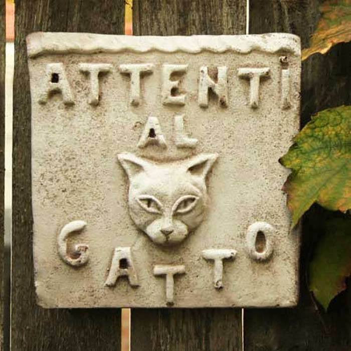 Beware of Cat Plaque - Cece & Me - Home and Gifts