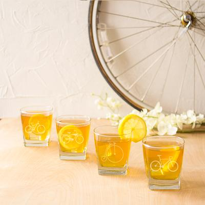Bicycle Rocks Glasses (Set of 4) - Cece & Me - Home and Gifts