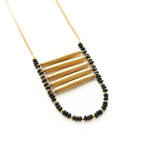 Black Ladder Necklace - Cece & Me - Home and Gifts