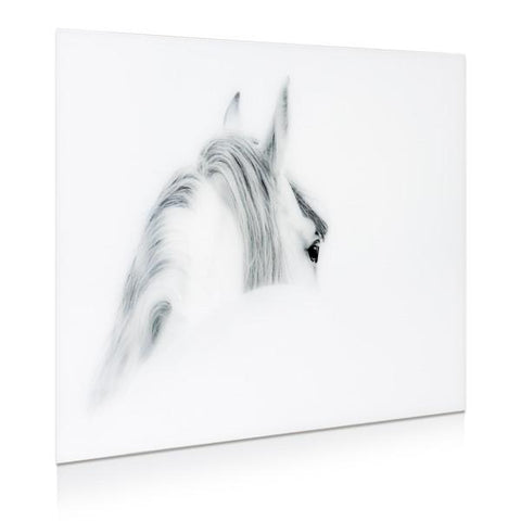 Image of Blanco Mare Horse ~ Tempered Art Glass - Cece & Me - Home and Gifts