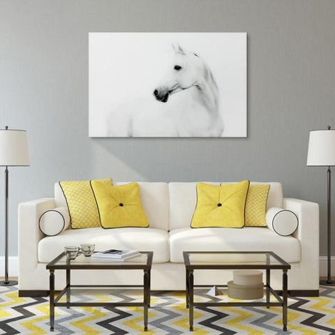 Image of Blanco Stallion Horse ~ Tempered Art Glass - Cece & Me - Home and Gifts