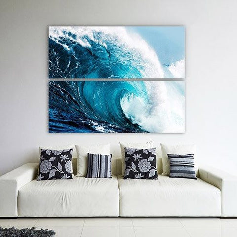 Blue Wave II ~ Tempered Art Glass - Cece & Me - Home and Gifts
