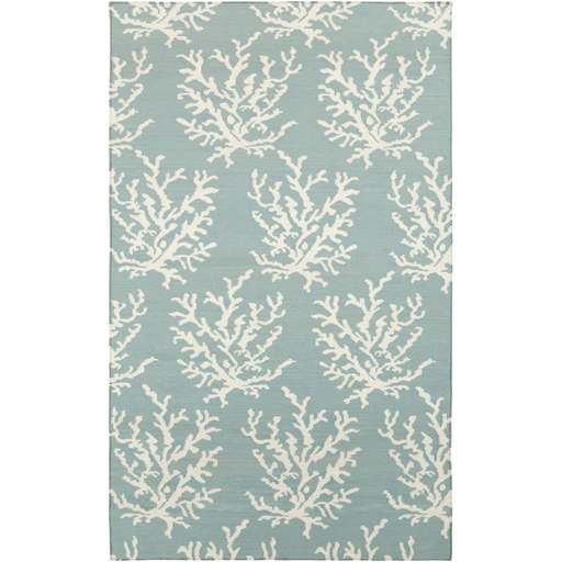 Coastal Boardwalk Wool Rug ~ Aqua - Cece & Me - Home and Gifts