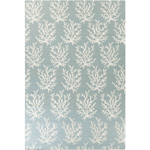 Coastal Boardwalk Wool Rug ~ Aqua