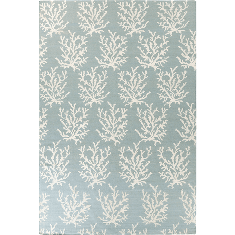 Image of Coastal Boardwalk Wool Rug ~ Aqua - Cece & Me - Home and Gifts