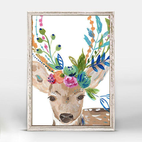 Boho Deer Mini Framed Canvas - Cece & Me - Home and Gifts