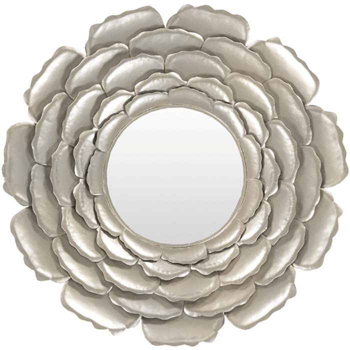 Botanical Metal Mirror ~ Silver - Cece & Me - Home and Gifts