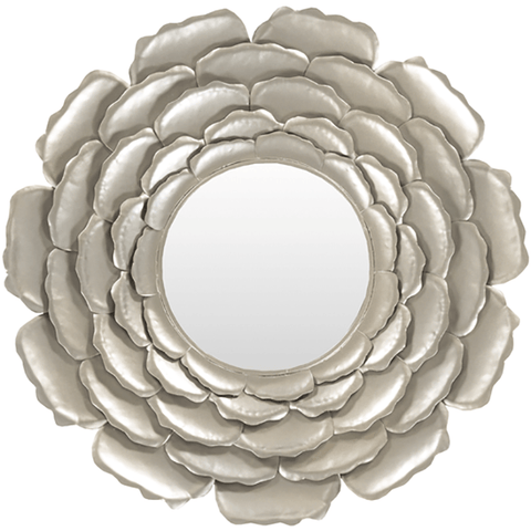 Image of Botanical Metal Mirror ~ Silver - Cece & Me - Home and Gifts