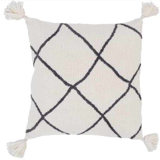 Braith Pillow I ~ Cream/Charcoal - Cece & Me - Home and Gifts