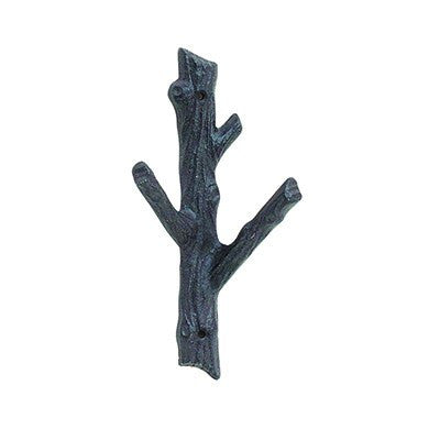 Cast Iron Branch Two Hook - Medium - Cece & Me - Home and Gifts