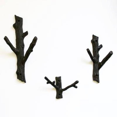 Cast Iron Branch Two Hook ~ Large - Cece & Me - Home and Gifts