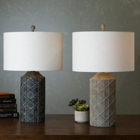 Brenda Table Lamp ~ Medium Gray