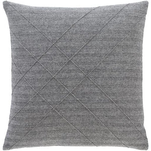 Brenley Pillow ~ Charcoal - Cece & Me - Home and Gifts
