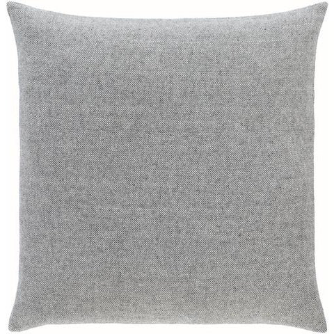 Brenley Herringbone Pillow ~ Charcoal - Cece & Me - Home and Gifts