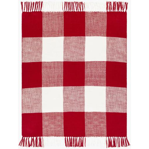 Image of Bufflonne Throw ~ Dark Red - Cece & Me - Home and Gifts