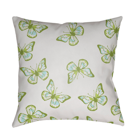 Butterflies Pillow ~ Green - Cece & Me - Home and Gifts