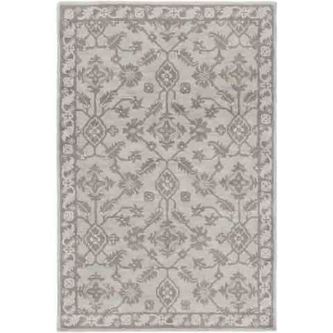 Castello Rug ~ Light Gray/Eggplant/Dark Green/Ivory - Cece & Me - Home and Gifts