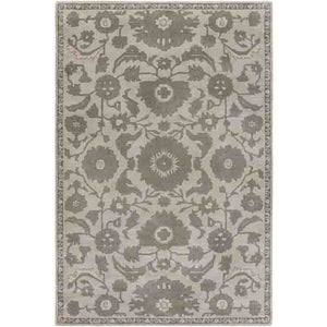 Castello Rug ~ Light Gray/Dark Green/Ivory - Cece & Me - Home and Gifts