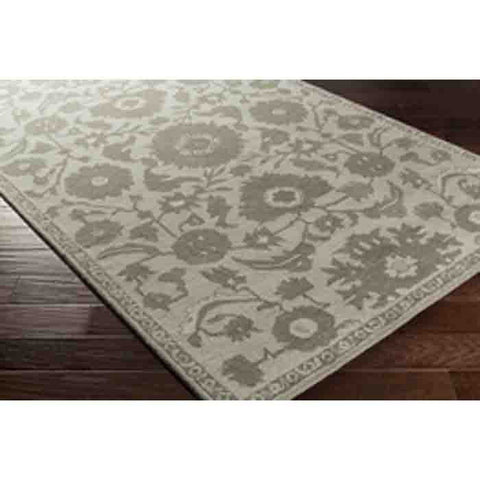Image of Castello Rug ~ Light Gray/Dark Green/Ivory - Cece & Me - Home and Gifts