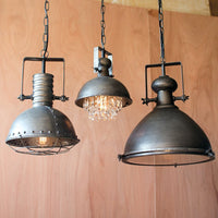Metal Pendant Lamp with Hanging Crystals - Cece & Me - Home and Gifts - 2
