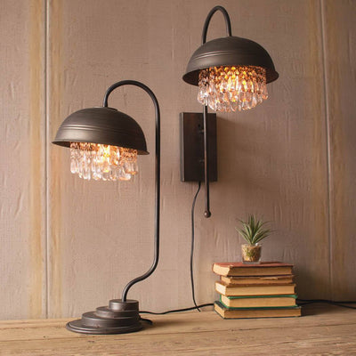 Metal Dome Wall Lamp with Glam Detail - Cece & Me - Home and Gifts