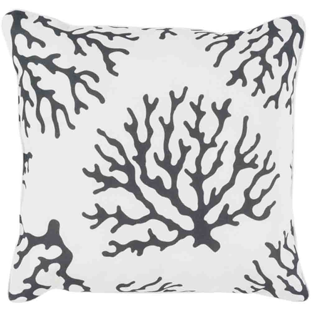 Coral Pillow ~ Black & White - Cece & Me - Home and Gifts
