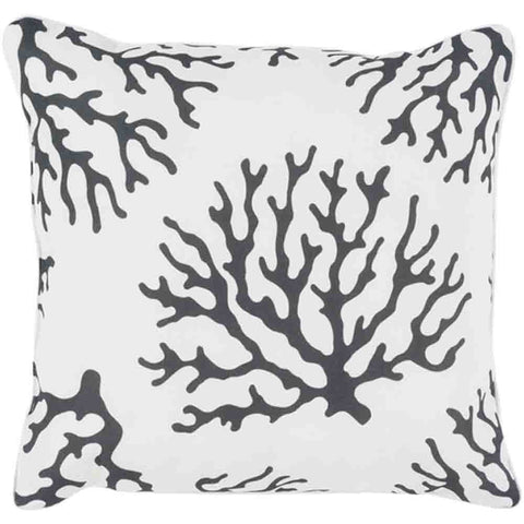 Image of Coral Pillow ~ Black & White - Cece & Me - Home and Gifts