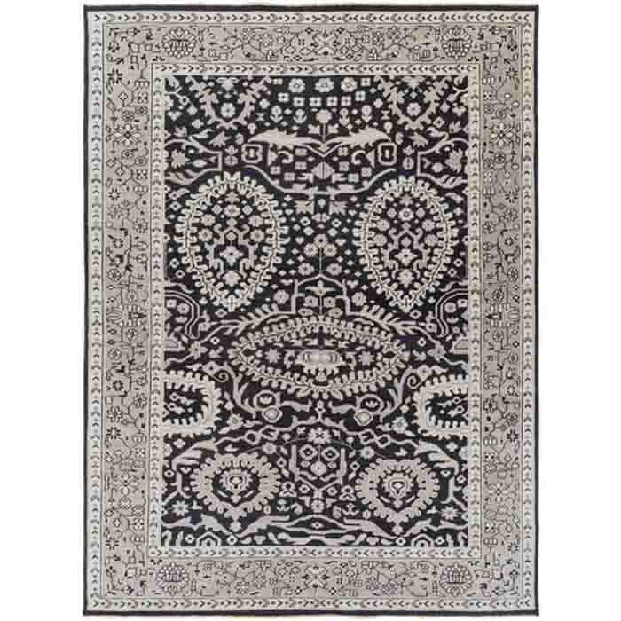 Cappadocia Rugs ~ Black/Ivory/Medium Gray - Cece & Me - Home and Gifts