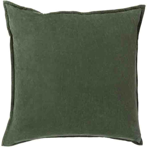 Image of Cotton Velvet Pillow ~ Dark Green - Cece & Me - Home and Gifts