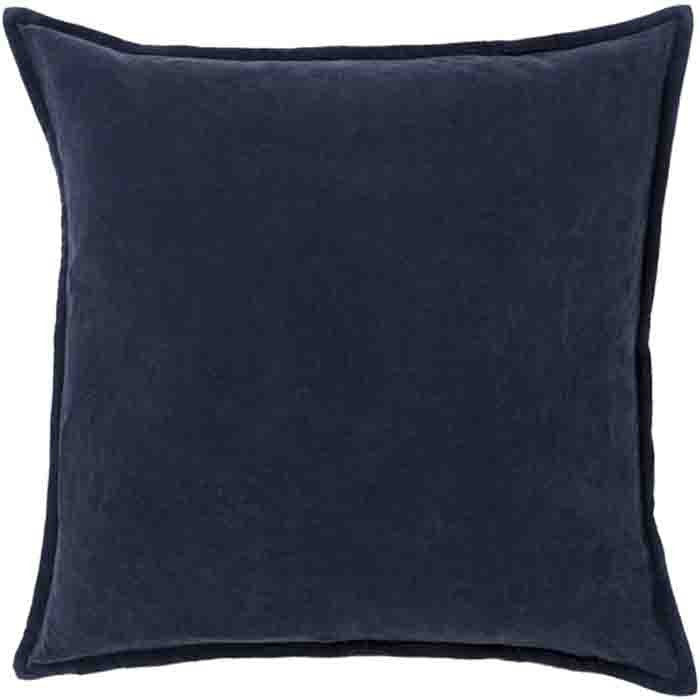 Cotton Velvet Pillow ~ Dark Charcoal - Cece & Me - Home and Gifts