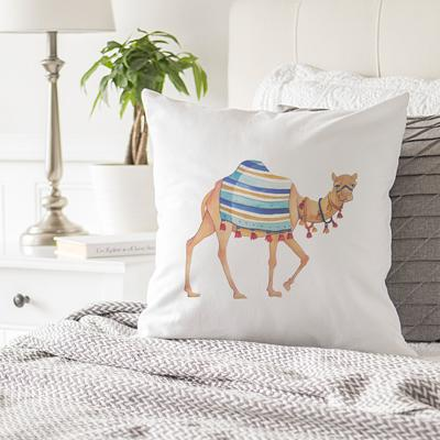 "Image of Camel Throw Pillow 16"" - Cece & Me - Home and Gifts"