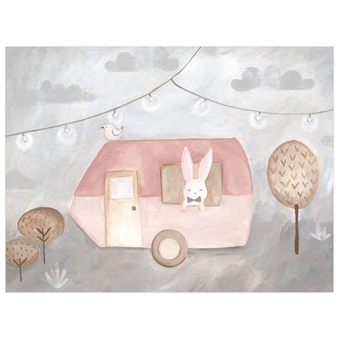 Camping Caravan Pink Wall Art - Cece & Me - Home and Gifts