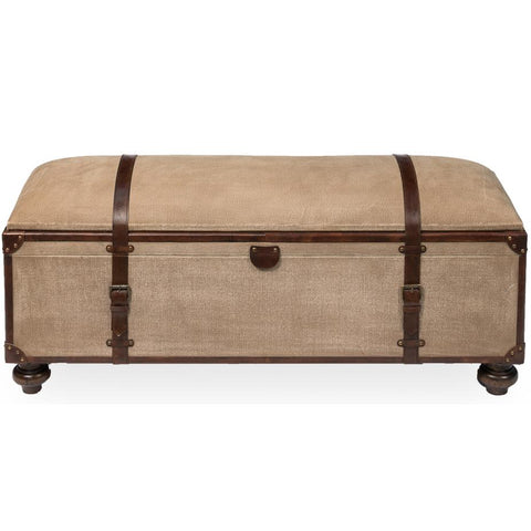 Image of Canvas Trunk Bench - Cece & Me - Home and Gifts