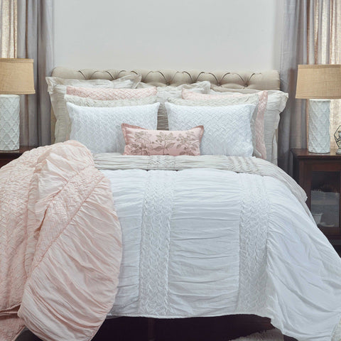 Carly White Quilt & Shams - Cece & Me - Home and Gifts